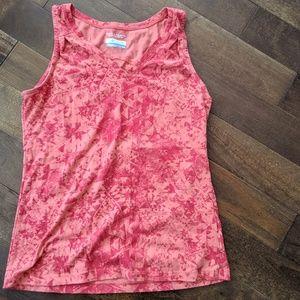 Columbia Salmon Pink Cotton Athletic Top